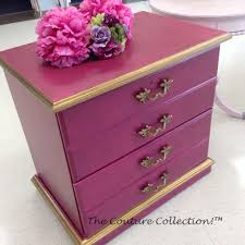 Painted in Polynesian <b>Pink Paint</b> Couture, accented in Pale Gold ...