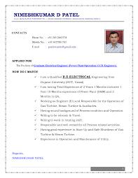 Sample Resume  Sle Electrical Engineering Resume Pdf Engineer