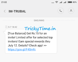 big update true balance refer and earn rs on signup rs  refer and earn unlimited recharge per refer you will get rs 10 and your referred friend will get rs 20 signup bonus for