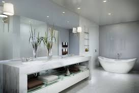 chic white small bathroom design with white freestanding bathtub and vanity with storage 25 luxury small bathroom decor designs pictures trendy
