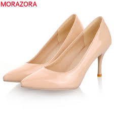 MORAZORA Big Size 34 46 2019 <b>New Fashion</b> high heels <b>women</b> ...