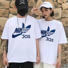 <b>1PCS</b> Couple <b>Round</b> Neck <b>Letter</b> Print Short Sleeve T-Shirt ...