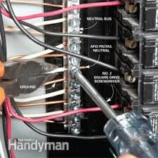 breaker box safety how to connect a new circuit family handyman Utility Breaker Box Wiring breaker box safety how to connect a new circuit 100 Amp Breaker Box Wiring