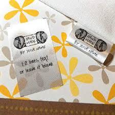 100 pcs Handmade yarn design Custom text logo ... - Amazon.com
