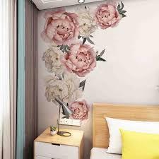 <b>Наклейка</b> на стену пион розы цветы искусство <b>детские наклейки</b> ...