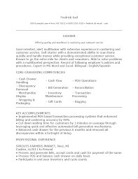 restaurant cashier resume sample resume sample gallery of restaurant cashier resume sample
