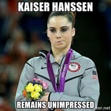 kaiser hanssen remains unimpressed - McKayla Maroney Not Impressed ... via Relatably.com
