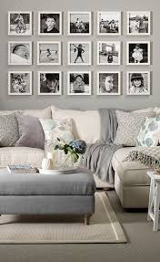 gallery living walls filled a nice gallery wall display for over the sofa using white frames and b