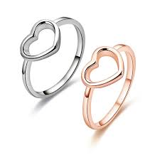 <b>Modyle 2020 New</b> Fashion Rose Gold Color Heart Shaped Wedding ...