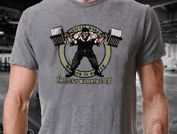 <b>Male Pre Cotton Clothing 100</b>% Cotton I'm Just Warming Up Barbell ...