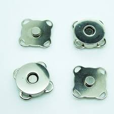 14mm,<b>20Sets Silver Tone</b> Magnetic Snaps Bag Purse Clasp Button ...