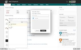 integrated live chat support from freshdesk automatically route chats and transfer to the right agents