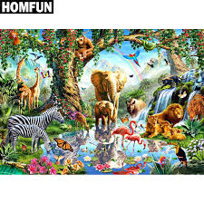 "<b>HOMFUN Full Square/Round Drill</b> 5D DIY Diamond Painting ""zoo ..."