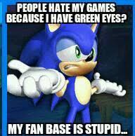 DeviantArt: More Like Sonic Meme: Green eyes. by SeanicDrummerHog via Relatably.com