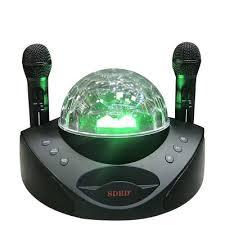 SD308 Wireless Microphone Family KTV Portable Singing Machine ...
