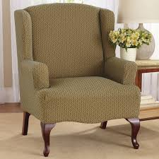 furniture brown pattern linen wingback chair slipcover with curved brown polished wooden legs on grey bedroommarvellous office chairs bones furniture company