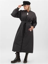<b>Пальто</b>-бомбер женское длинное, на молнии, оверсайз ...
