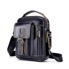 <b>WEIXIER 2019</b> brand men's shoulder bag courier handbag large PU ...