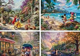Ceaco Thomas Kinkade The Disney Collection 4 in 1 ... - Amazon.com