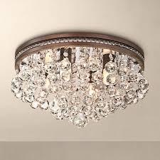 "Regina Olive Bronze 16"" Wide <b>Crystal Ceiling Light</b> | Lamps <b>Plus</b>"