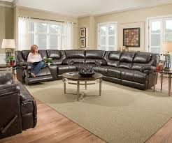 room sets simmons leather furniture motion living room furniture ufi br bingo brown sectional rs