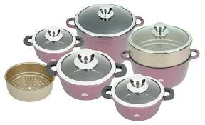 Купить <b>Набор посуды Stahlberg</b> Tonnato 2342-S 12 пр. бордовый ...