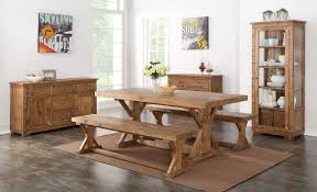 Pine Dining Room Chairs Feature Dining Table Camrose Reclaimed Pine Dining Bench With