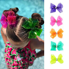 "<b>ncmama</b> 4"" Waterproof Jelly Bows Hair Bows for Girls with Clips ..."