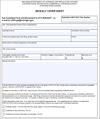 let your elf help you file in michigan wolverine startup law elf cover sheet