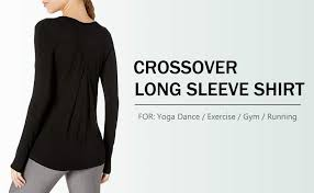 Bestisun <b>Women's</b> Long Sleeve <b>Workout Shirts Gym Yoga</b> Clothes ...