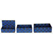 <b>Набор из 3-х</b> корзин для хранения 258168 черно-синий купить по ...