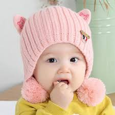 Myzixuan Baby Knit Cap <b>Fall</b>/<b>Winter Thickening</b> Baby hat Sweater ...
