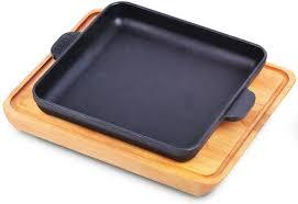 Купить <b>Сковорода квадратная</b> 180х180х25 с <b>дощечкой</b> BRIZOLL ...