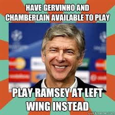 Have Gervinho and Chamberlain available to play Play Ramsey at ... via Relatably.com