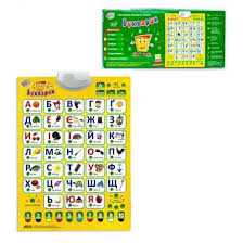Плакат интерактивный <b>Play Smart</b> Букварик укр <b>Разноцветный</b>