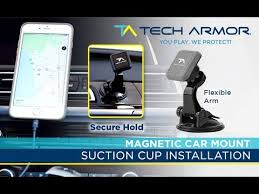 Tech Armor <b>Universal Magnetic Car</b> Mount - Suction Cup Installation ...