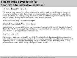 3 tips to write cover letter for financial administrative assistant executive assistant cover letter