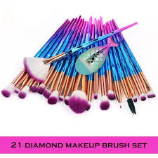 Buy 21Pcs <b>Makeup</b> Brush Sets Professional Nylon Hair Cosmetic ...