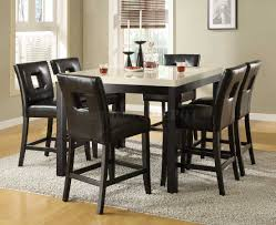 size dining room contemporary counter: contemporary counter height dining set with marble top table counter height marble top dining sets counter height marble top dining sets re re counter