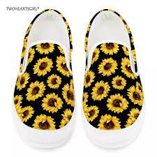 Twoheartsgirl <b>Stylish</b> Sunflower Print <b>Women Vulcanize</b> Shoes ...