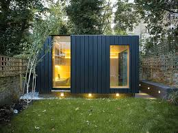 charred cedar clads this garden yoga studio and office by neil dusheiko in north london best garden office