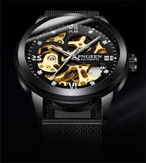 <b>FNGEEN</b> Number Sport Design Bezel Golden Watch Mens Watches ...