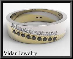 Unique Wedding Band, Wedding Ring, <b>Black</b> And White diamond ...