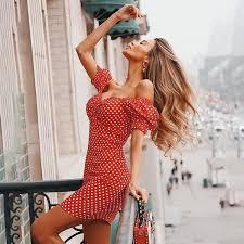 Dress Women <b>Sexy</b> Casual <b>Puff Sleeves</b> Dress Summer Woman V ...