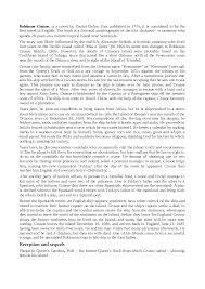 robinson crusoe riassunto e analisi in inglese scarica il documento