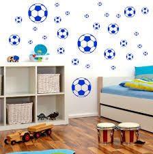 zones bedroom wallpaper: football wall stickers boyrs bedroom wall muraux wallpaper calcio autoadesivo della parete arte vinile decalcomania stanza