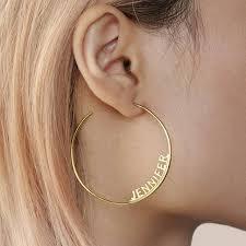 Online Shop Hip Hop Large <b>Name Hoop Earrings</b> For Female Party ...