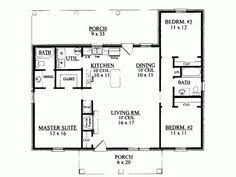 images about Rambler floor plans   sq ft on    Build your ideal home   this Ranch house plan   bedrooms s   bathroom s   story  and total square feet from Eplans exclusive assortment of