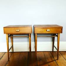 a pair of mid century side tables – sold