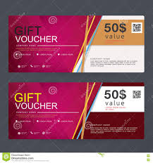 gift voucher template design concept for gift coupon stock vector gift voucher template design concept for gift coupon